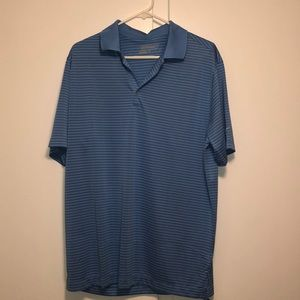 Light blue striped Nike golf polo